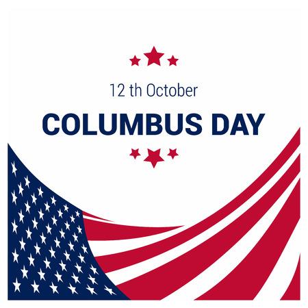 Happy Columbus day design vector Foto de archivo - 112027665