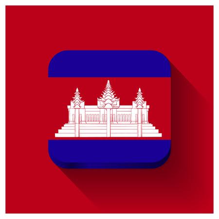 Cambodia flag design vector