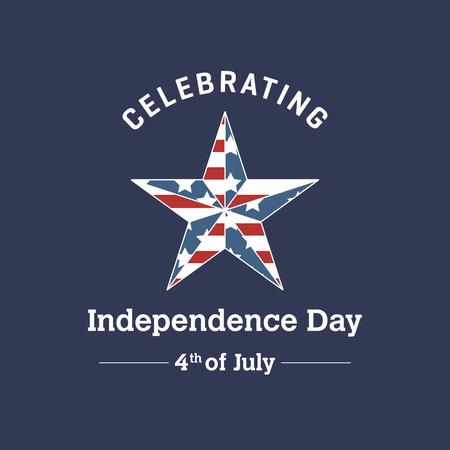 American Independence day design card vector Ilustração