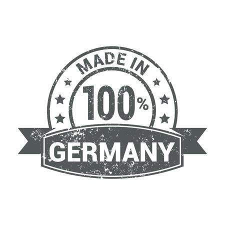 Germany stamp design vector Vektorové ilustrace