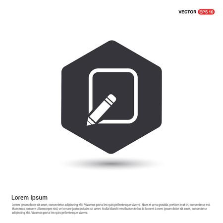 Edit, pencil icon Hexa White Background icon template - Free vector icon Ilustração