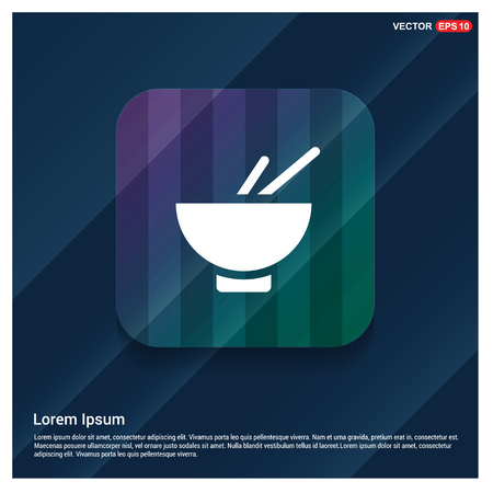 bowl and chopsticks icon - Free vector icon