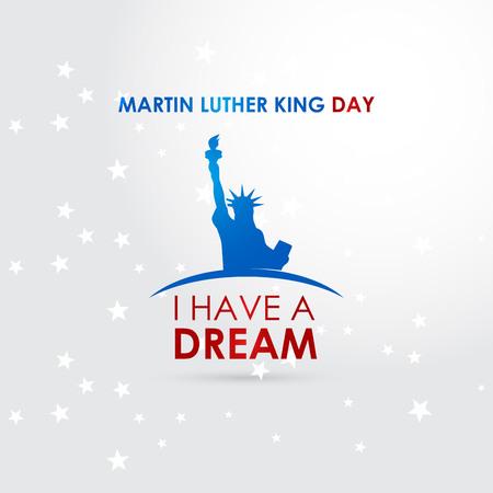 Glücklicher Martin Luther King Tagesentwurfsvektor