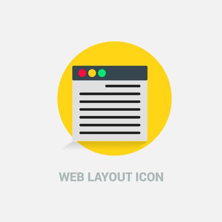 Web Layout icon deisgn vector