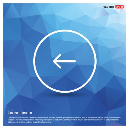 Back arrow icon - Free vector icon Иллюстрация