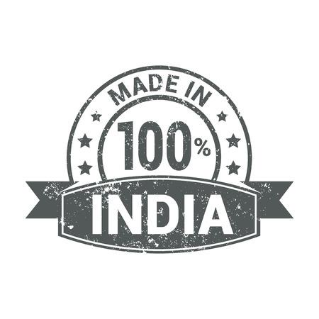 India stamp design vector