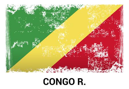 Congo Democratic Republic flag design vector