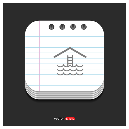 Water pool icon - Free vector icon
