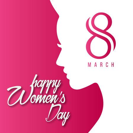Frauentags-Designkarte mit kreativem Designvektor