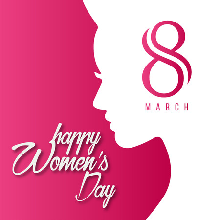 Womens day design card with creative design vector