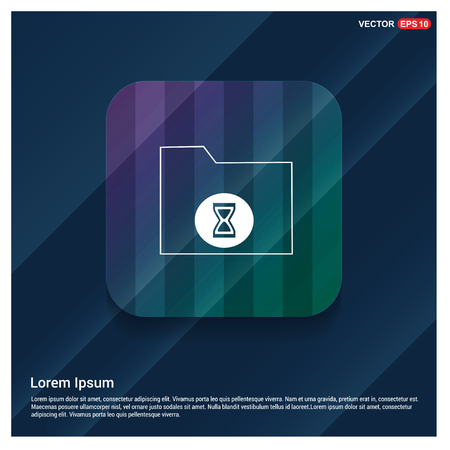 Computer Folder Icon - Free vector icon Illustration