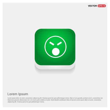 smiley icon, Face iconGreen Web Button - Free vector icon
