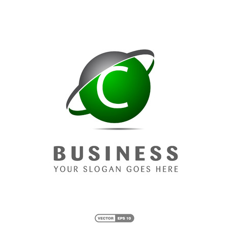 Alphabetical logo of business company and typography vector