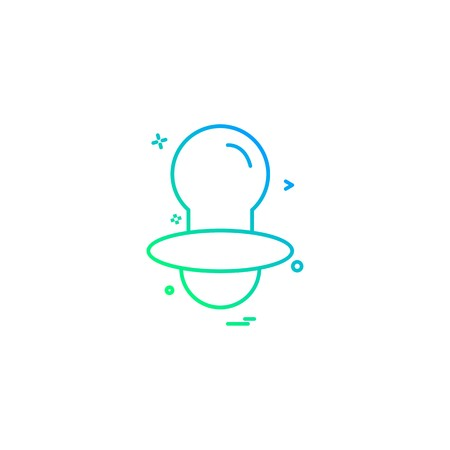 Nipple icon design vector