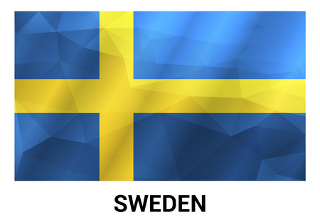 Sweden Independence day design card vector