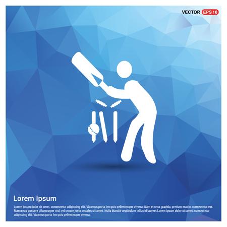 Batsman Icon - Free vector icon