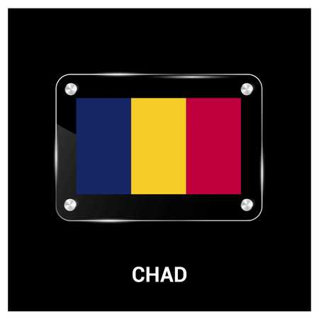 Chad Flag design vector Illustration