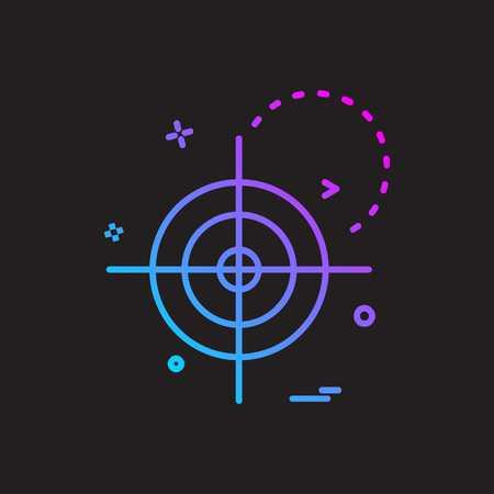 Vecteur de conception d'icône de cybersécurité