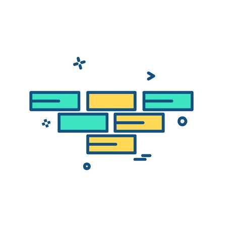 Bricks wall icon design vector