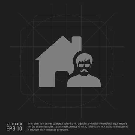 Real Estate Agent Icon - Black Creative Background - Free vector icon