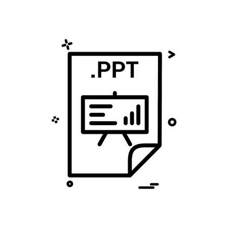 ppt application download file files format icon vector design