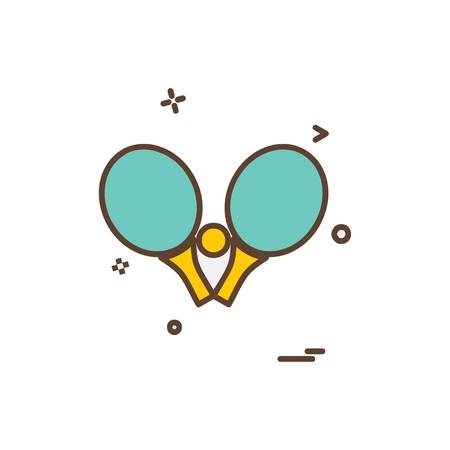 卓球アイコンデザインベクトル