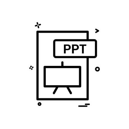 ppt file format icon vector design royalty free cliparts vectors
