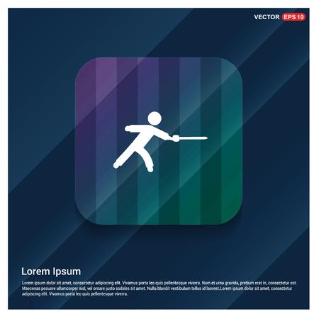 Swordman Icon - Free vector icon Ilustração