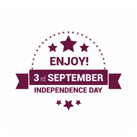 Qatar Independence day design card vector