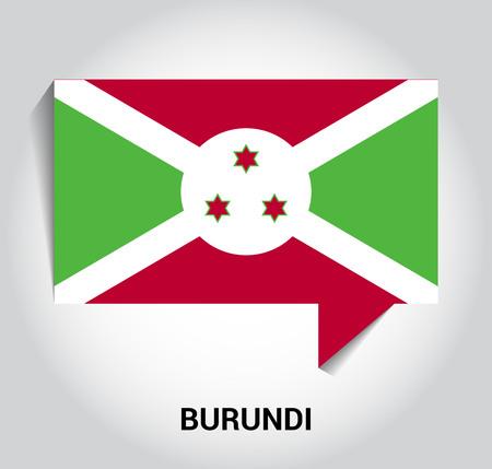 Burundi flag design vector Illustration