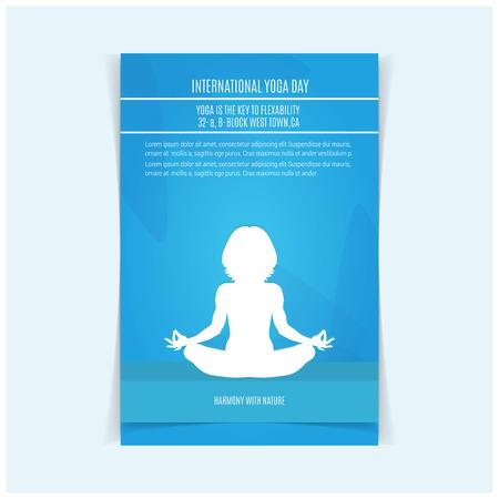 International Yoga day design vector