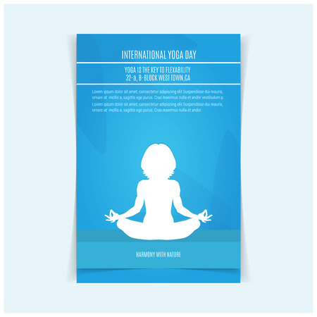 International Yoga day design vector