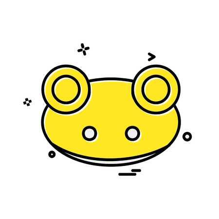 Frog icon design vector Illustration