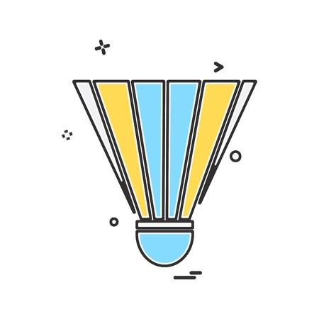 Badminton Shuttle icon design vector