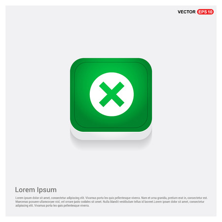Multiply IconGreen Web Button - Free vector icon Illustration