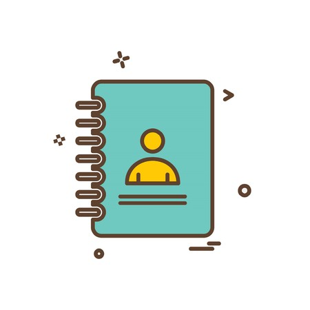 Phonebook icon design vector Ilustracje wektorowe
