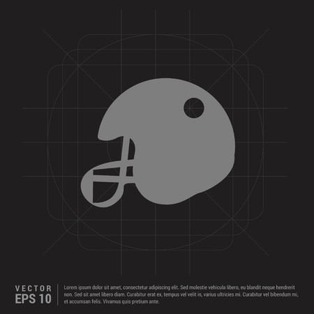 Cricket Helmet Icon - Black Creative Background - Free vector icon
