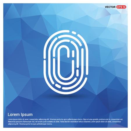 Fingerprint App icon - Free vector icon