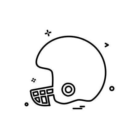 helmet cricket playing icon vector design