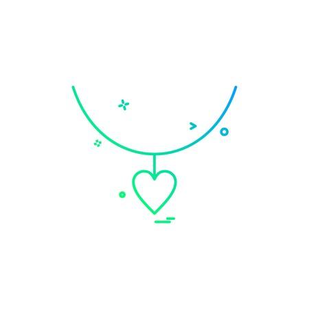 heart love gift necklace icon vector design