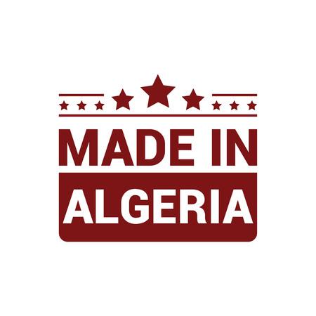 Algeria stamp design vector