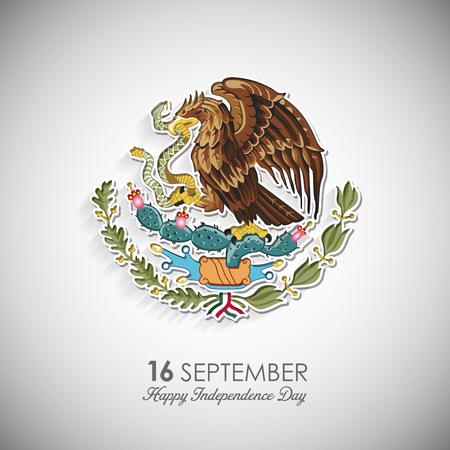 Vettore di disegno di giorno di indipendenza del Messico