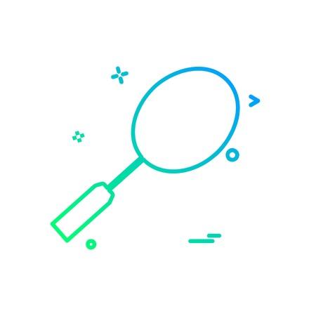 Badminton icon design vector Illustration