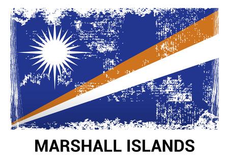 Marshall Islands flag design vector