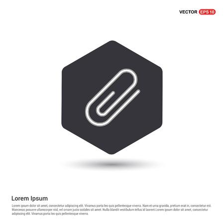 Attach paper clip icon Hexa White Background icon template - Free vector icon