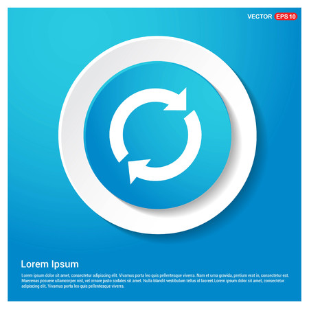 Reload icon Abstract Blue Web Sticker Button - Free vector icon Vector Illustration
