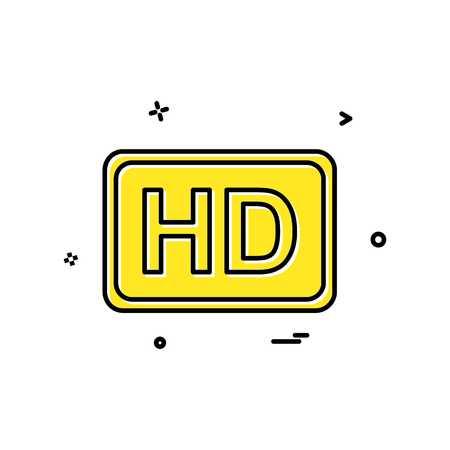 Video quality icon design vector