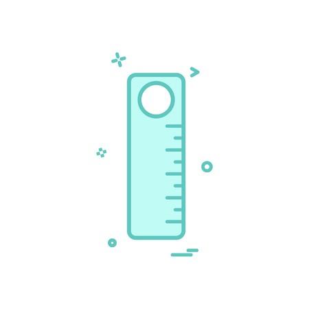 scale stationery school icon vector design
