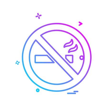 Vietato fumare icona vettore di design