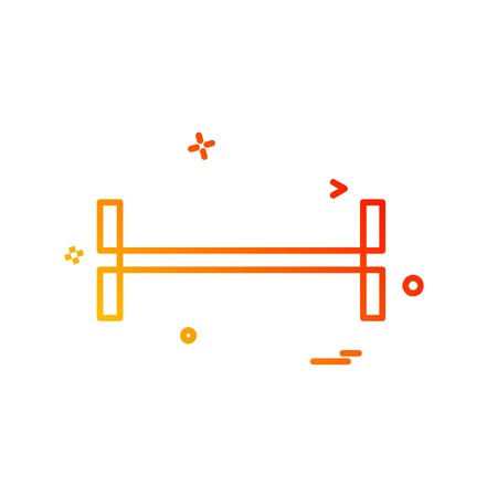 Dumbell icon design vector Stock Vector - 107919058